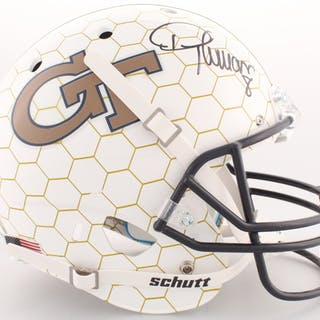 Demaryius Thomas Signed Georgia Tech Yellow Jackets Full-Size Helmet