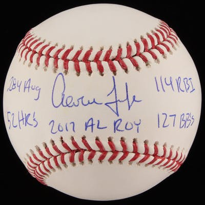 Aaron Judge Signed LE OML Baseball with Multiple Inscriptions (MLB