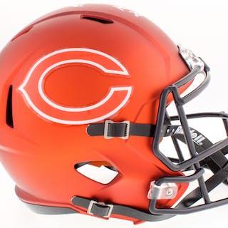 c5f9b5580 ... Brian Urlacher Signed Bears Full-Size Custom Matte Orange Speed Helmet.  Closed auction
