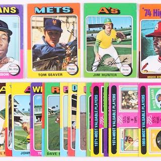 Lot Of 20 1975 Topps Mini Baseball Cards With 230 Jim Hunter