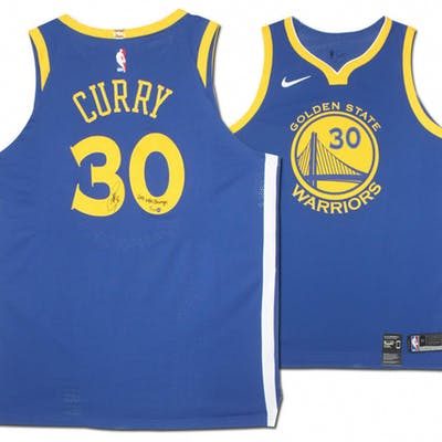 Stephen Curry Signed Warriors Limited Edition Nike Jersey Inscribed