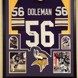 best loved aaee5 53f3c Chris Doleman Signed Vikings 34x42 Custom Framed Jersey (JSA ...