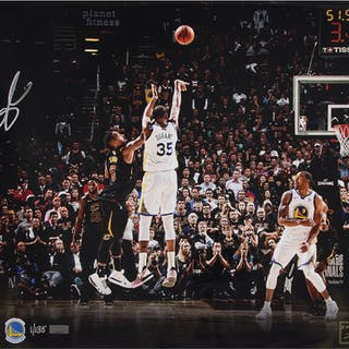 """Kevin Durant Signed Golden State Warriors """"Clutch"""" 16x20 Limited Edition"""