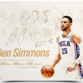 "Ben Simmons Signed Philadelphia 76ers ""NBA Royalty"" 20x24 Photo Inscribed"