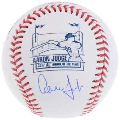 Aaron Judge Signed 2017 AL Rookie of the Year Logo Baseball (Fanatics