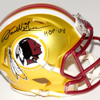 Darrell Green Signed Washington Redskins Mini Blaze Speed Helmet Inscribed