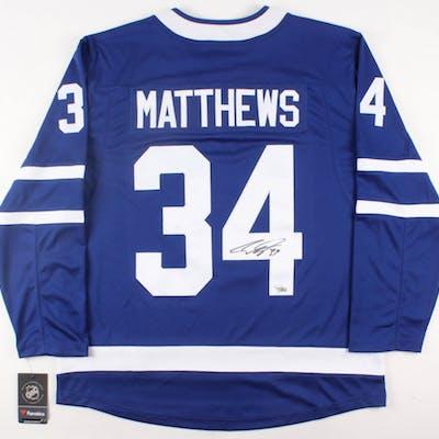 best sneakers 71035 6594d Auston Matthews Signed Maple Leafs Jersey (Fanatics Hologram ...