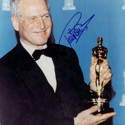 Paul Newman Signed Academy Award 11x14 Photo (PSA Hologram)