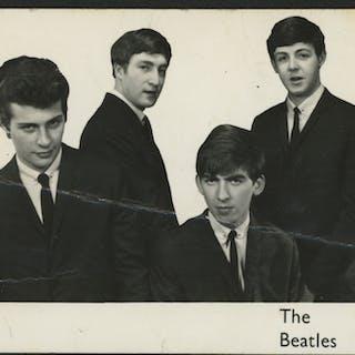 "Pete Best, George Harrison & John Lennon Signed ""The Beatles"" 3.5x5.5"