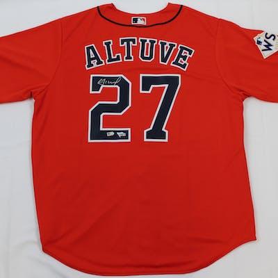 Jose Altuve Signed Astros Jersey (Fanatics & MLB Hologram)