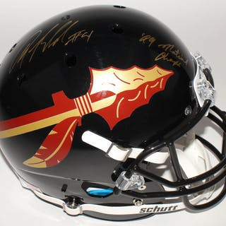Anquan Boldin Signed Florida State Seminoles Full-Size Helmet Inscribed