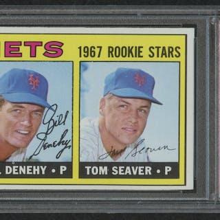 1967 Topps 581 Rookie Stars Bill Denehy Rc Tom Seaver Rc Psa 7
