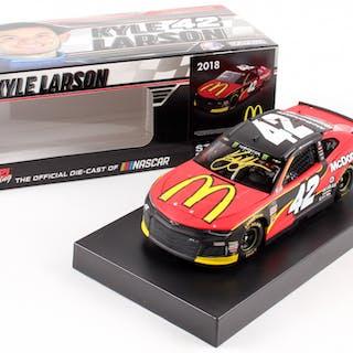 Kyle Larson Signed NASCAR #42 McDonald's 2018 Camaro - 1:24 Premium