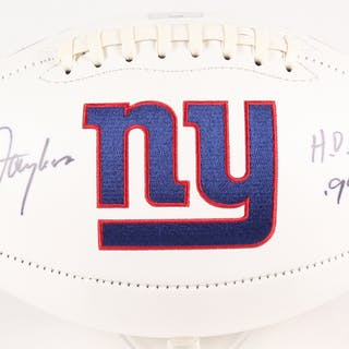 "Lawrence Taylor Signed Giants Logo Football Inscribed ""HOF 99"" (Radtke"