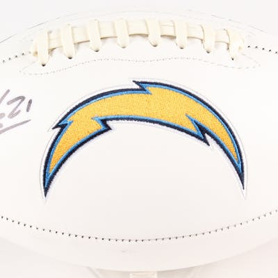 best sneakers 701e3 e0a12 LaDainian Tomlinson Signed Chargers Logo Football (Tomlinson ...