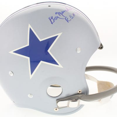 Don Meredith Signed Cowboys Throwback Suspension Full-Size Helmet