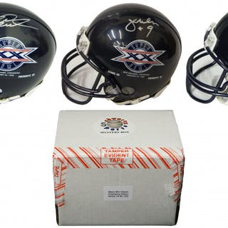 6cbc4ebb2 Chicago Bears Signed Mystery Box SB XX Champs Mini Helmet – Series