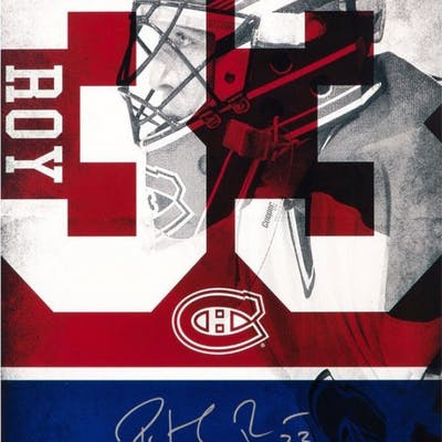 save off 65ea7 d5b54 Patrick Roy Signed Canadiens