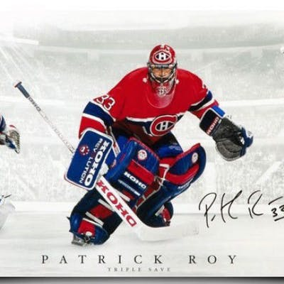 hot sales 7378e 7f952 Patrick Roy Signed Montreal Canadiens