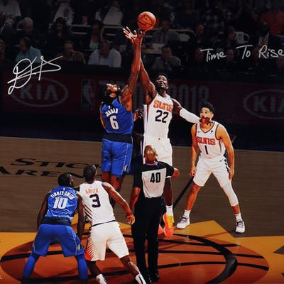 """Deandre Ayton Signed Suns """"Tip Off"""" 16x20 Limited Edition Photo Inscribed"""