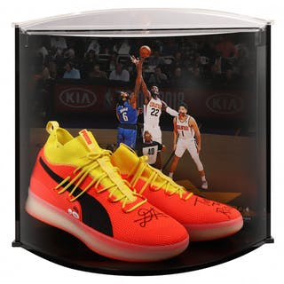 b953982f5dc1 Deandre Ayton Signed LE Pair of (2) Puma Clyde Court Disrupt Basketball