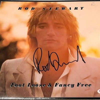 "Rod Stewart Signed ""Foot Loose & Fancy Free"" Vinyl Record Album (PSA COA)"