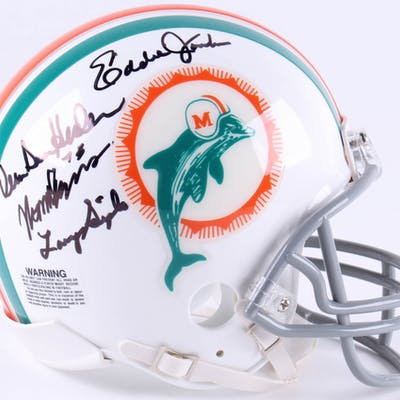 1972 Miami Dolphins Mini-Helmet Signed by (7) with Vern Den Herder