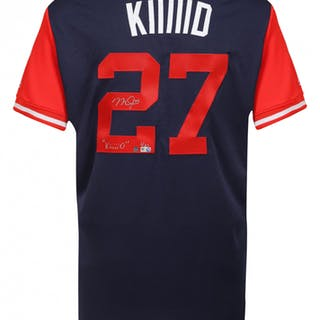 """Mike Trout Signed LE Angels Players Weekend """"Kiiiiid"""" Jersey Inscribed"""