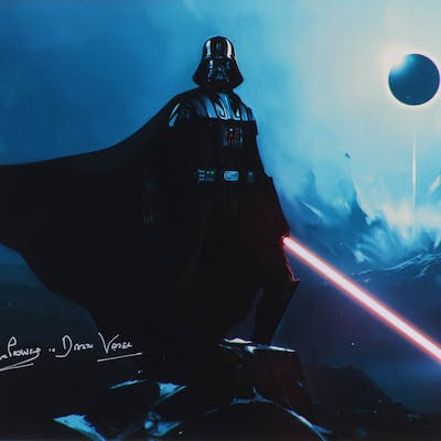 """David Prowse Signed """"Star Wars"""" 16x20 Photo Inscribed """"Is Darth Vader"""""""