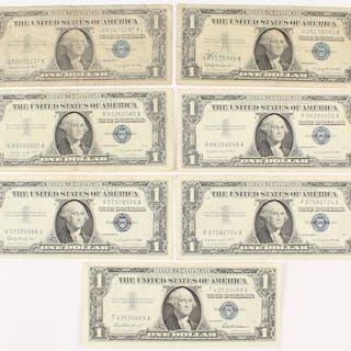 1957 1 us silver certificate blue seal current sales barnebys com