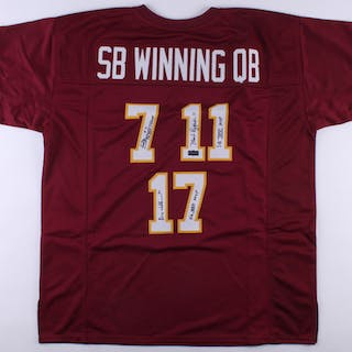 new products 0ef57 5745e Mark Rypien, Joe Theismann & Doug Williams Signed Redskins ...