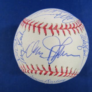 1fb84af9df0e 1986 Mets OML Baseball Team-Signed by (28) with Davey Johnson