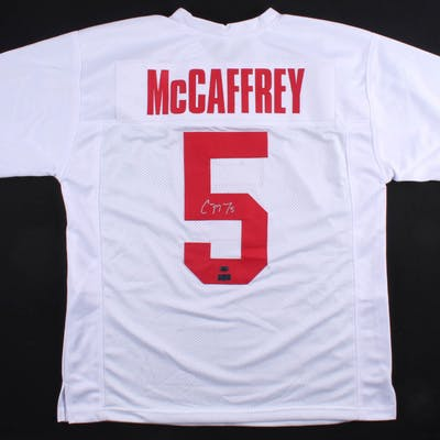 Christian McCaffrey Signed Jersey (McCaffrey Hologram & Radtke COA)