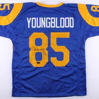 "Jack Youngblood Signed Rams Jersey Inscribed ""HOF 2001"" (Radtke COA)"