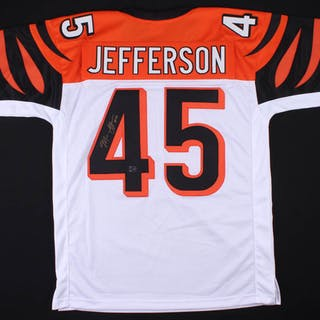 timeless design 79e28 10038 Malik Jefferson Signed Bengals Jersey (Jefferson Hologram ...