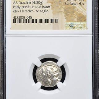336-323 BC Kingdom of Macedon Alexander III AR (Silver) Drachm (4.30g)