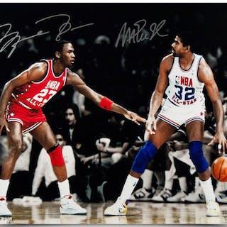 467b3a52e Michael Jordan   Magic Johnson Signed