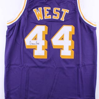 55e83cd5c Jerry West Signed Lakers Jersey (JSA COA) – Current sales – Barnebys.com