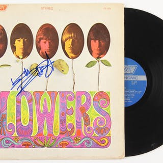 """Keith Richards Signed The Rolling Stones """"Flowers"""" Vinyl Record Album"""