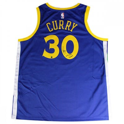 san francisco 94dd1 0e890 Stephen Curry Signed Warriors Jersey Inscribed