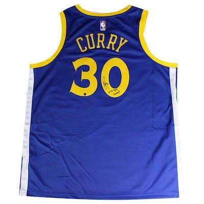 san francisco ad9ea ea46e Stephen Curry Signed Warriors Jersey Inscribed