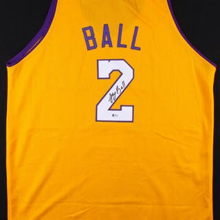 2ddff15d07e2 Lonzo Ball Signed Los Angeles Lakers Jersey (Beckett COA) Pristine Auction  · Lonzo ...