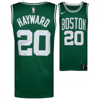 timeless design 61f96 eff64 Gordon Hayward Signed Nike Celtics Jersey (Fanatics Hologram ...