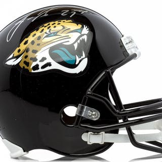 46b2ed66b Leonard Fournette Signed Jaguars Full-Size Helmet (Panini COA)