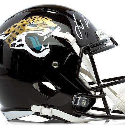 Leonard Fournette Signed Jacksonville Jaguars Full-Size Speed Helmet