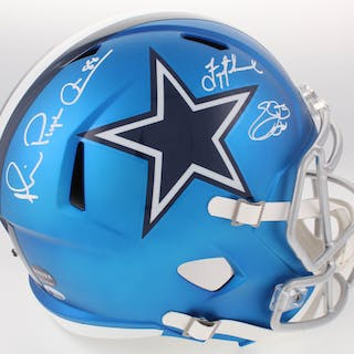 """Troy Aikman, Emmitt Smith & Michael """"Playmaker"""" Irvin Signed Cowboys"""