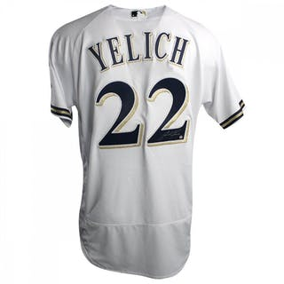 ff393451f Christian Yelich Signed Authentic Majestic Brewers Jersey (Steiner COA) – Current  sales – Barnebys.com