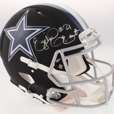 sale retailer 8b5d2 7d7d2 Ezekiel Elliott Signed Dallas Cowboys Full-Size Matte Black ...