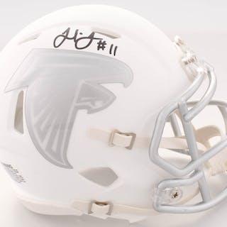 602cebf7504 Julio Jones Signed Falcons White ICE Speed Mini Helmet (JSA COA) – Current  sales – Barnebys.com