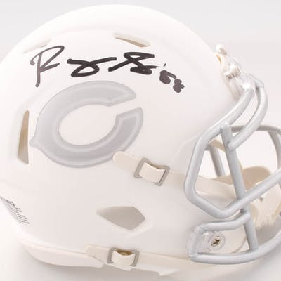 Roquan Smith Signed Bears White ICE Speed Mini Helmet (Beckett COA)
